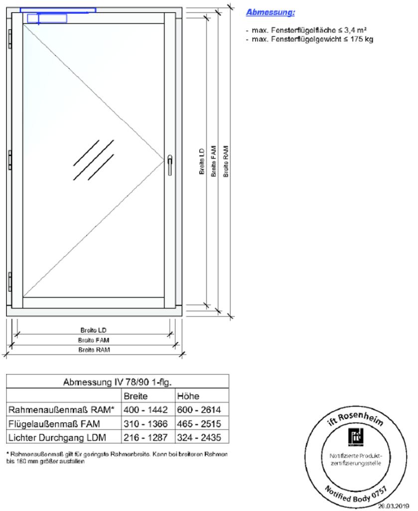 Branschutzfenster F30 Spezifikation 1
