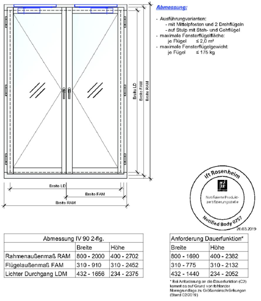 Branschutzfenster F30 Spezifikation 2
