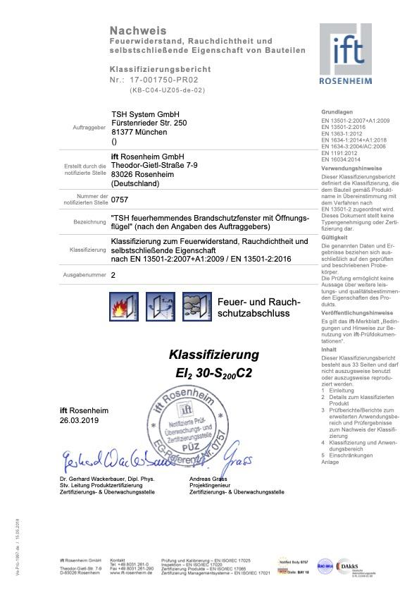 Klassifizierungsbericht 17 001750 PR02