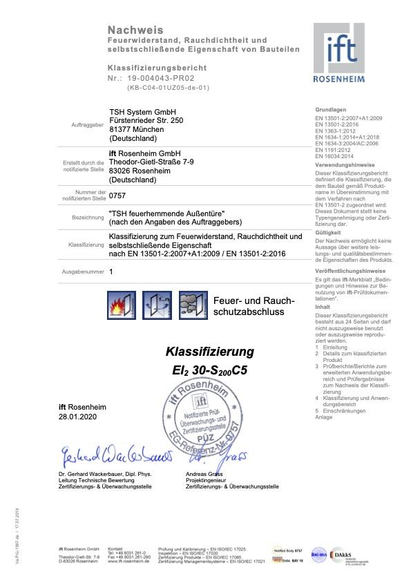 Klassifizierungsbericht 19 004043 PR02