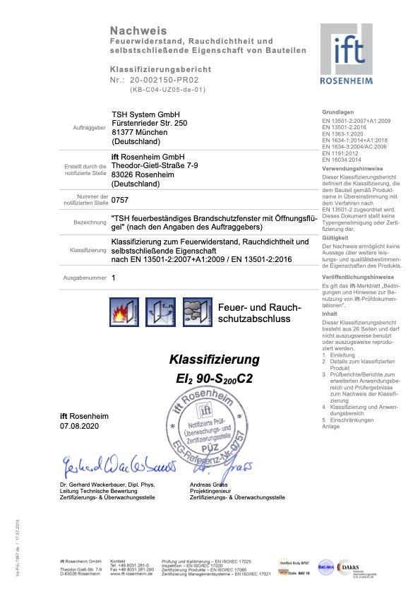 Klassifizierungsbericht KB C04 UZ05 de 01
